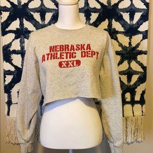 Nebraska crop top sweater